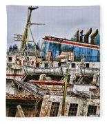 Old B.c. Ferry Fleece Blanket