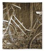 Old Bikes Fleece Blanket