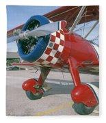 Old Biplane V Fleece Blanket