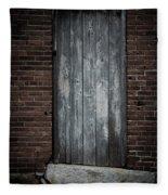 Old Blacksmith Shop Door Fleece Blanket