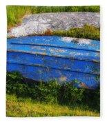 Old Blue Boat Fleece Blanket