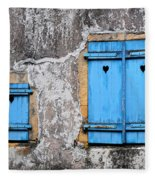 Old Blue Shutters Fleece Blanket