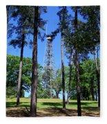 Old Bodcau Fire Tower In Louisiana Fleece Blanket