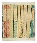 Old Books Fleece Blanket