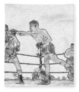 Old Boxing Old Time Fleece Blanket