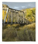Old Bridge At La Boca Fleece Blanket