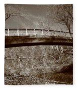 Old Bridge In Autumn Fleece Blanket