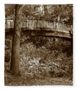 Old Bridge In Summer Fleece Blanket