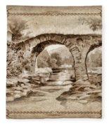 Old Bridge Fleece Blanket