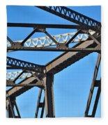 Old Bridge Structure Fleece Blanket