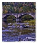 Old Bridge Two Fleece Blanket