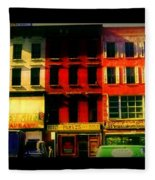 Old Buildings 6th Avenue - Vintage Nyc Architecture Fleece Blanket