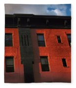 Brownstone 1 - Old Buildings And Architecture Of New York City Fleece Blanket