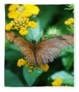 Old Butterfly Fleece Blanket