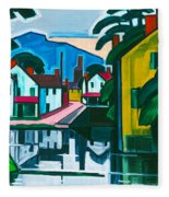Old Canal Port Fleece Blanket