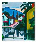 Old Canal Port Fleece Blanket