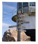 Old Cape Point Lighthouse In South Africa Fleece Blanket