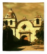 Old Carmel Mission - Watercolor Fleece Blanket