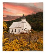 Old Carmel Ohio Church Fleece Blanket