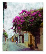 Old Cartagena 2 Fleece Blanket