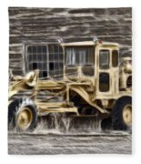 Old Cat Grader Fleece Blanket