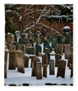 Old Cemetery Lancaster Ma Fleece Blanket