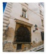 Old Charming Street In Prague Fleece Blanket