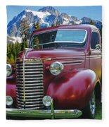 Old Chevy Pickup Ca5073-14 Fleece Blanket