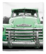 Old Chevy Pickup Truck Fleece Blanket