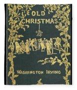 Old Christmas Fleece Blanket