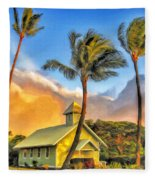 Old Church At Honokawai Maui Fleece Blanket