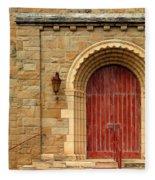 Old Church Door Fleece Blanket