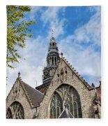 Old Church In Amsterdam Fleece Blanket