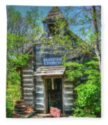 Old Church In The Woods Fleece Blanket