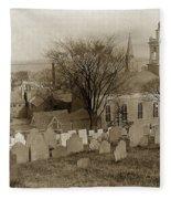 Old Church's Cemetery Graveyard Boston Massachusetts Circa 1900 Fleece Blanket
