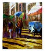 Old City Ahmedabad  Series 2 Fleece Blanket