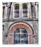 Old City Jail Entrance Fleece Blanket