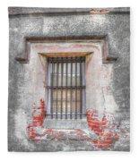 The Old City Jail Window Chs Fleece Blanket