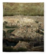 Old City Of Toledo Fleece Blanket