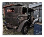 Old Classic Car Fleece Blanket