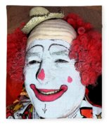 Old Clown Backstage Fleece Blanket