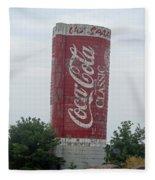 Old Coke Silo Fleece Blanket
