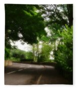 Old Country Road - Peak District - England Fleece Blanket