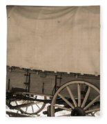 Old Covered Wagon Out West Fleece Blanket