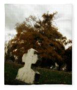 Old Crooked Cross Fleece Blanket