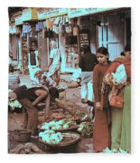 Old Delhi 1978 Fleece Blanket