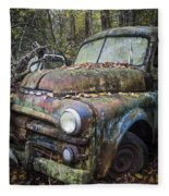 Old Dodge Truck Fleece Blanket