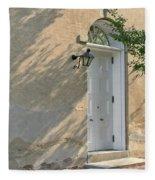 Old Door And Stucco Wall Fleece Blanket
