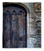 Old Door With Spider Webs Fleece Blanket