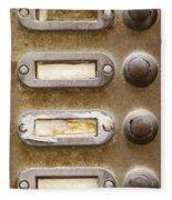 Old Doorbells Fleece Blanket